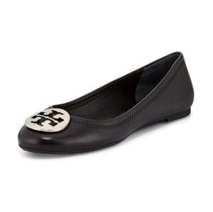 TORY BURCH Black Leather Flats 7